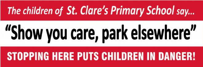 Show you care, park elsewhere banner